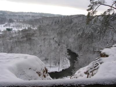Gražios vietos aplink Vilnių: Pučkorių atodanga žiemą