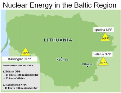 Baltijos regione arčiausiai Lietuvos planuojamos atominės elektrinės ©diploweb.com
